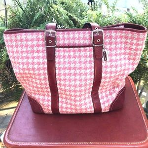 Authentic Coach cloth and Leather handbag